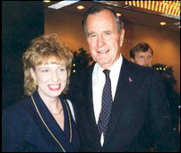 Nita Ammon with former President Bush